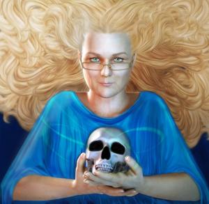 RayneHall - Fantasy Horror Author - Portrait by Fawnheart
